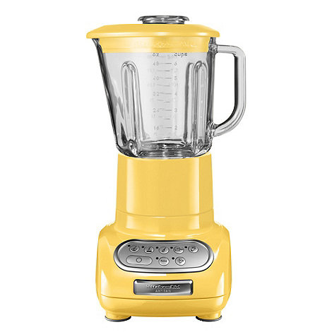 KitchenAid - Artisan 5KSB5553BMY Majestic Yellow blender with glass pitcher