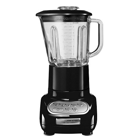 KitchenAid - Artisan 5KSB5553BOB Onyx Black blender with glass pitcher