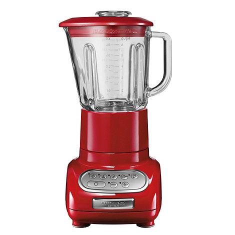 KitchenAid - Artisan+ 5KSB5553BER Empire Red blender with glass pitcher