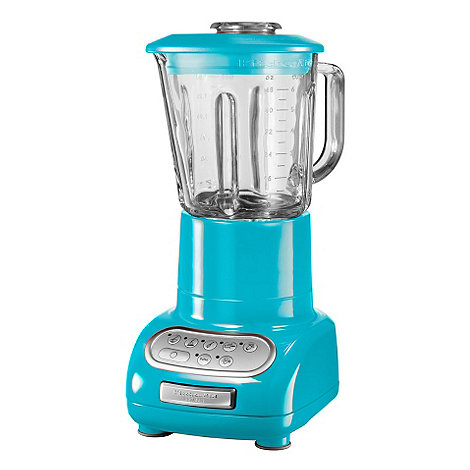 KitchenAid - Artisan KSB5553BCL Crystal Blue blender with glass pitcher