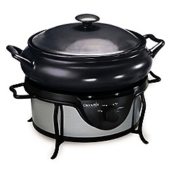 Crock-Pot - Crock Pot Grey Saute Traditional Slow Cooker SC7500-IUK 4.7L