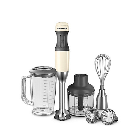 KitchenAid - Almond Cream corded hand blender set 5KHB2571BAC
