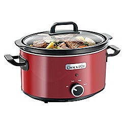Crock-Pot - Crock-Pot 3.5L Red Slow Cooker SCV400RD-060