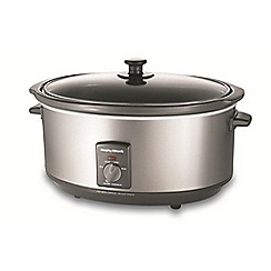 Morphy Richards - Oval stainless steel slow cooker 48718
