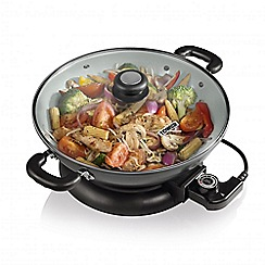 Tower - Ceramic coated colour changing 30cm electric wok T14007