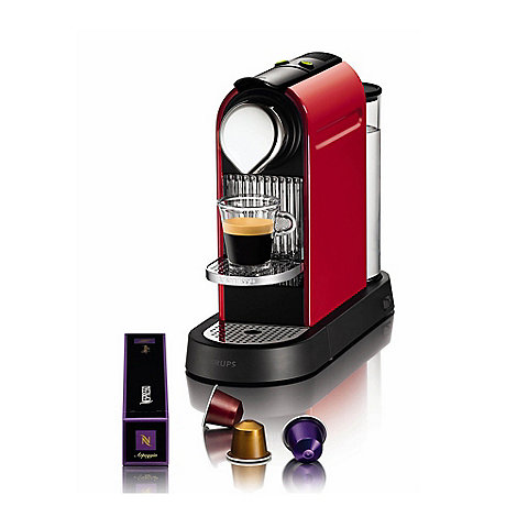 Krups - Nespresso +Citiz+ XN700640 Red coffee machine by Krups