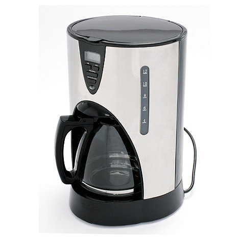 Debenhams - Silver +CM2BS+ digital filter coffee machine
