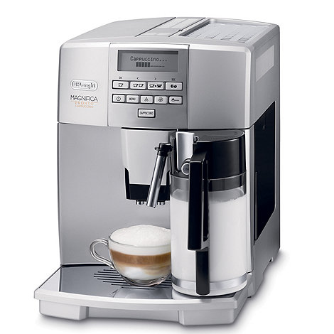 DeLonghi - Silver +Magnifica+ ESAM 04.350.S bean-to-cup coffee machine