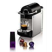 Nespresso 'Pixie' 11323 Aluminium coffee machine with Aeroccino by Magimix