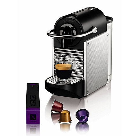 Magimix - Aluminium Nespresso +Pixie+ coffee machine with Aeroccino 11323