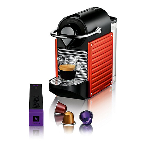 Krups - Nespresso +Pixie+ XN300640 Red coffee machine by Krups