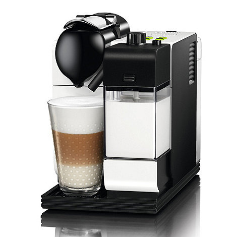 DeLonghi - White Nespresso +Lattissima++ coffee machine EN520.W