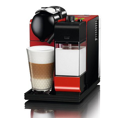 Nespresso - Red +Lattissima++ coffee machine by Delongi EN520.R