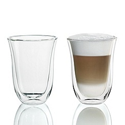 DeLonghi - Pack of two 'Latte Macchiato' thermal glasses