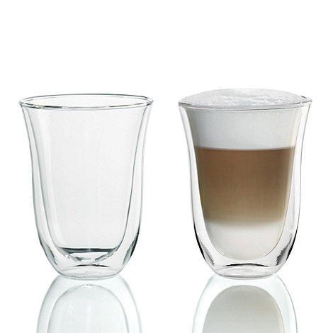 DeLonghi - Pack of two +Latte Macchiato+ thermal glasses
