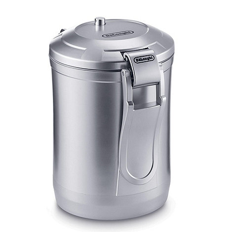 DeLonghi - 500g Silver vacuum coffee canister