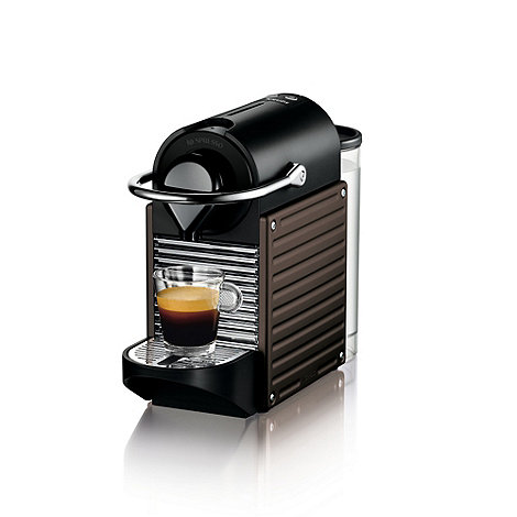 Nespresso - Brown +Pixie+ coffee machine by Krups XN300
