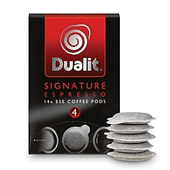 Dualit - 'Signature Espresso Blend' coffee pods - 14 servings