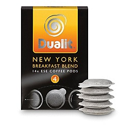 Dualit - 'New York Breakfast Blend' coffee pods - 14 servings