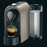Nespresso 'U' XN250AAP Pure Grey coffee machine with Aeroccino by Krups