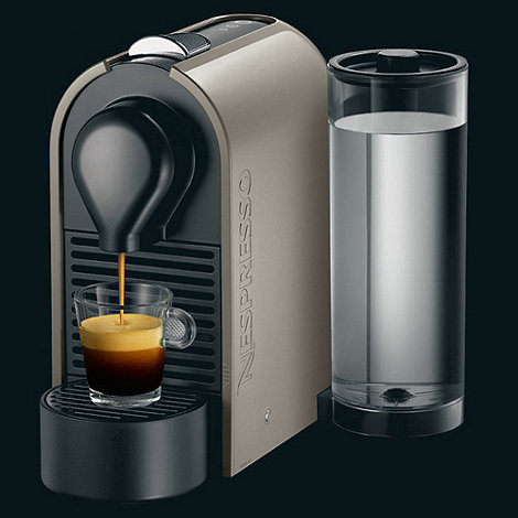 Krups - Nespresso 'U' XN250AAP Pure Grey coffee machine with Aeroccino by Krups