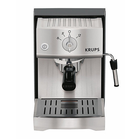 Krups - Silver traditional espresso coffee machine XP5240