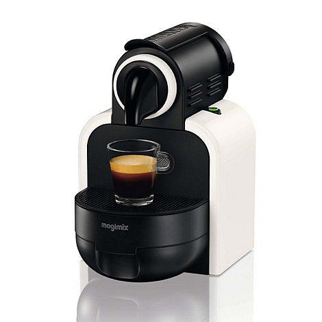 Magimix - Auto Essenza M100 White coffee machine with Aeroccino 3 by Magimix
