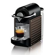 Nespresso 'Pixie' XN301840 Brown coffee machine with Aeroccino by Krups