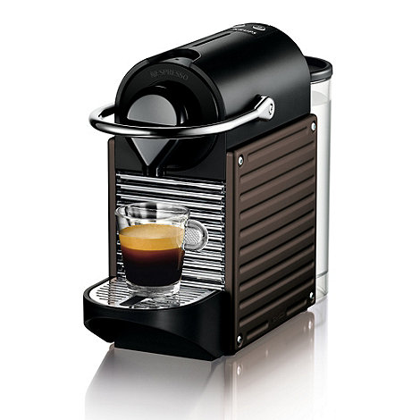 Krups - Pixie +XN301840+ Brown coffee machine with Aeroccino by Krups