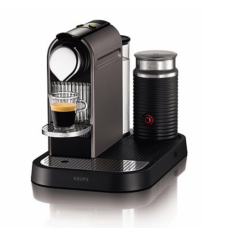 Krups - Nespresso +Citiz & Milk+ XN730T40 Titanium coffee machine with Aeroccino by Krups