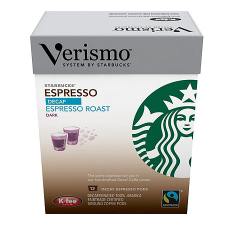 Starbucks - Verismo Fairtrade +Decaf Espresso Roast+ Coffee Pods