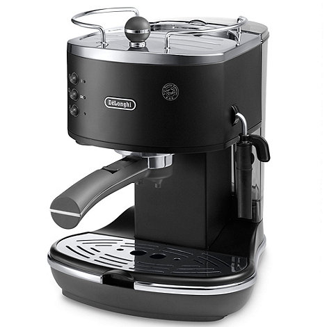 DeLonghi - Black +Vintage Icona+ ECO310.BK espresso coffee machine