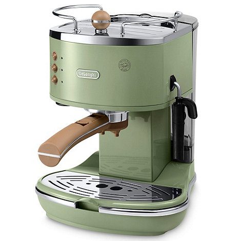 DeLonghi - Green +Vintage Icona+ ECOV310.GR espresso coffee machine