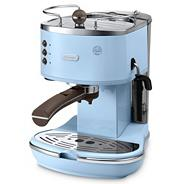 Blue 'Vintage Icona' ECOV310.AZ espresso coffee machine