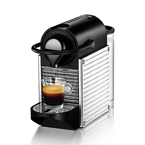 Nespresso - Stainless steel +Pixie+ espresso maker by Krups XN300D40