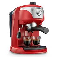 Delonghi red 'Motivo' ECC220.R espresso coffee machine