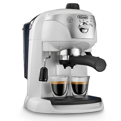 DeLonghi - White +Motivo+ ECC220.W espresso coffee machine