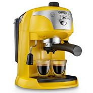 Delonghi yellow 'Motivo' ECC220.Y espresso coffee machine