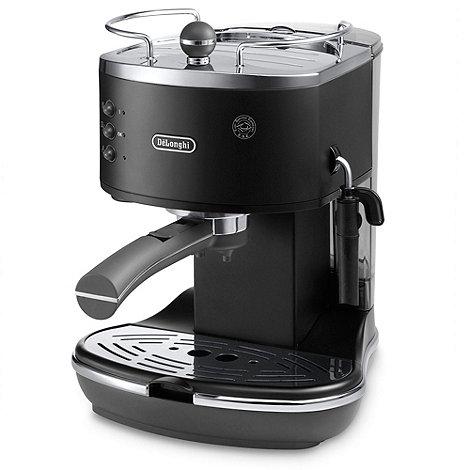DeLonghi - Black ECOV310.BK +Vintage Icona+ espresso machine