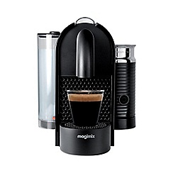 Nespresso - Black 'U & Milk' coffee machine by Magimix 11344