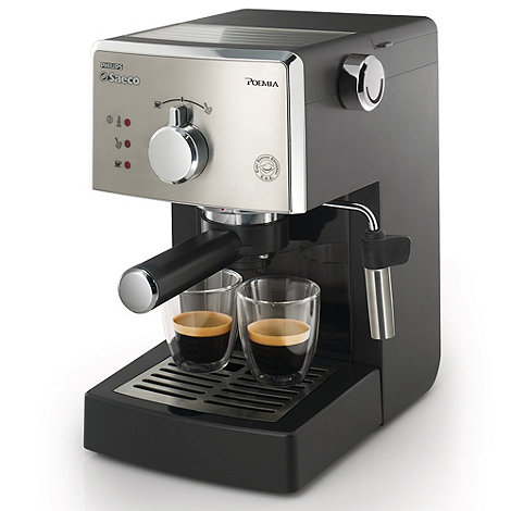 Philips - Black Saeco Poemia coffee machine HD8323/08