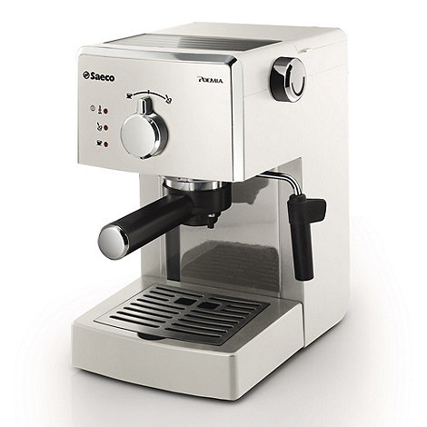 Philips - White +Saeco Poemia+ coffee machine HD8323/88