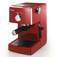 Philips red 'Saeco Poemia' coffee machine HD8323/98