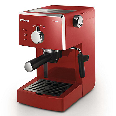 Philips - Red +Saeco Poemia+ coffee machine HD8323/98