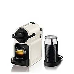 Krups - White Nespresso 'Inissia' with Aeroccino3 coffee machine XN101140