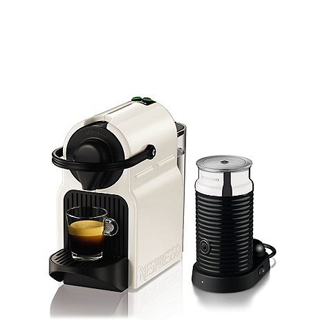 Krups - White Nespresso +Inissia+ with Aeroccino3 coffee machine XN101140