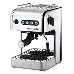Dualit - Polished silver 84510 express auto 3-in-1 coffee machine with milk frothing jug