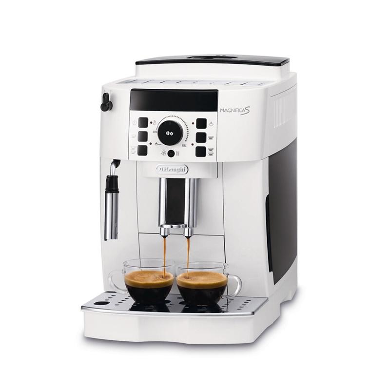 DeLonghi White Magnifica Bean to Cup Coffee Machine ECAM21.117W