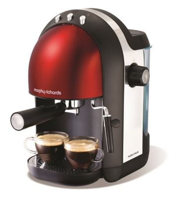Morphy Richards Red accents espresso coffee maker 172003 ...