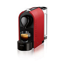 Krups - Matte red Nespresso 'U' coffee machine XN250540